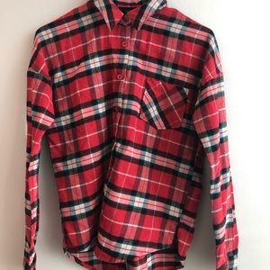 Red Nordstrom Mine Flannel Size S